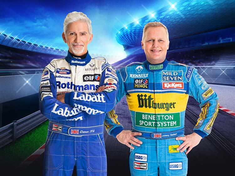 Damon Hill and Johnny Herbert