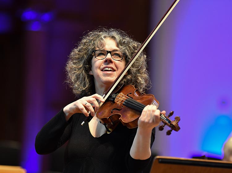 Stephanie Gonley, violin/director of the English Chamber Orchestra