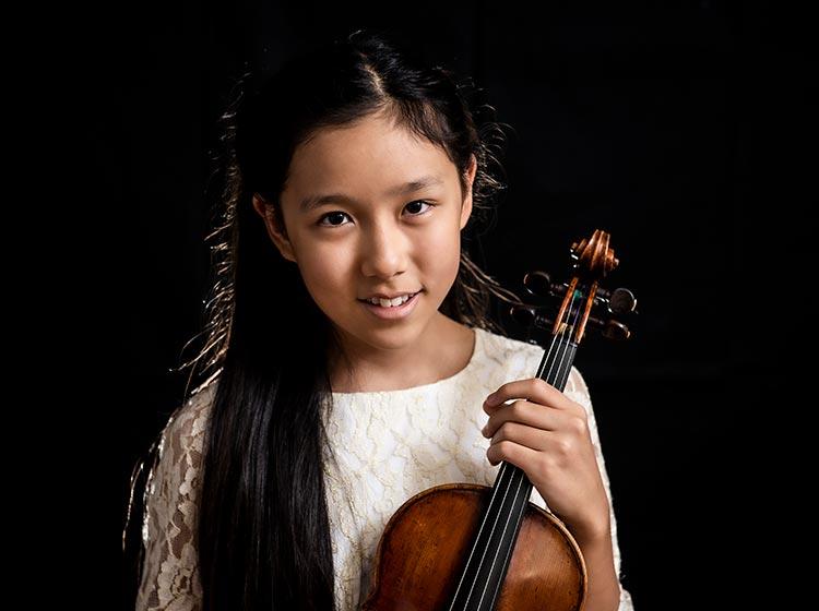 Violinist Leia Zhu