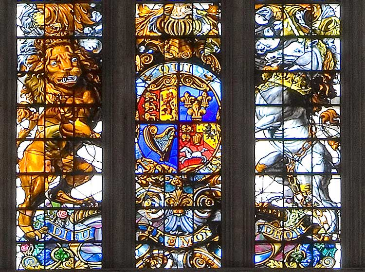 West window nave, George II arms (c) Dean and Chapter of Westminster